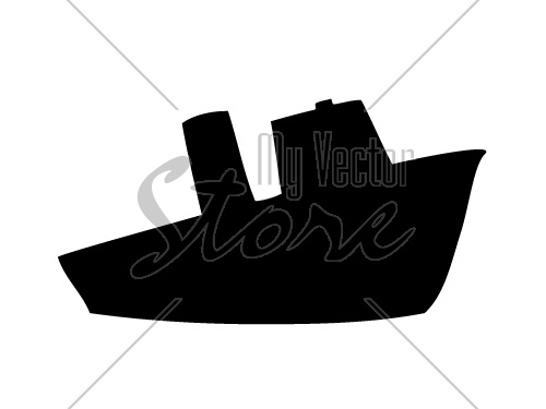 vector Steamship silhouette