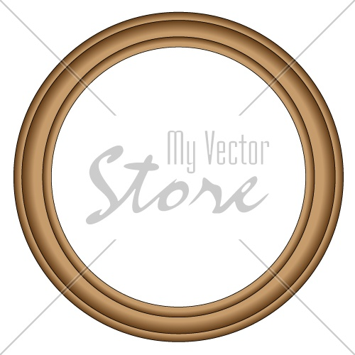 vector Simple wood frame