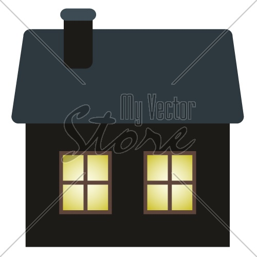 vector dark cottage