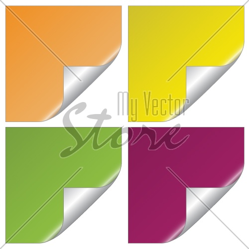 vector set of blank stickers