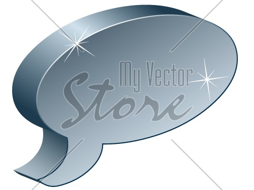 vector metallic chat box