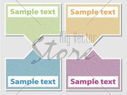 vector set of striped labels