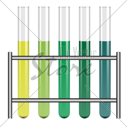 vector test tubes in holder