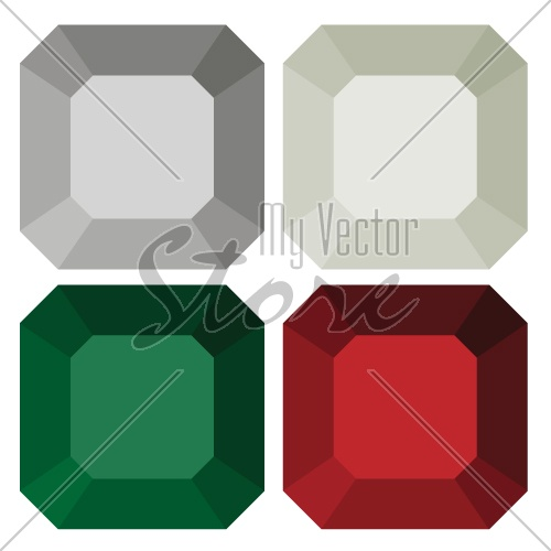 vector diamonds old single cut