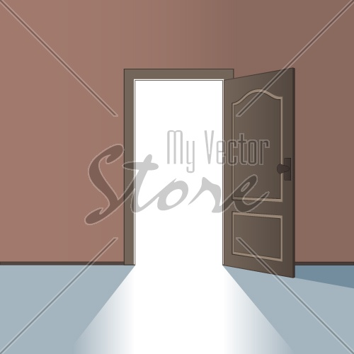 vector opened door