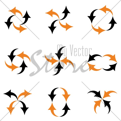 vector arrows composition