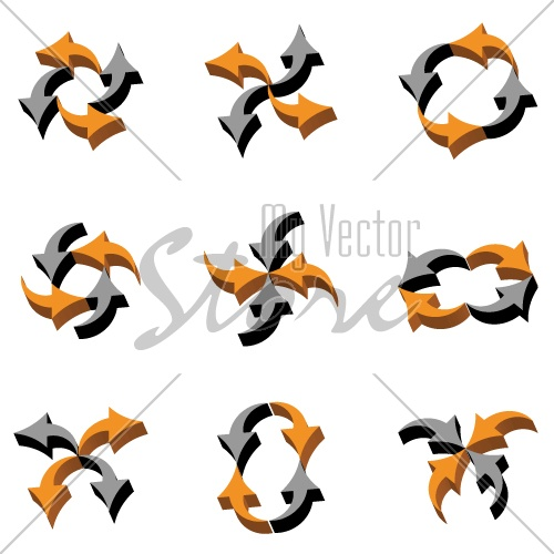 vector 3D arrows composition