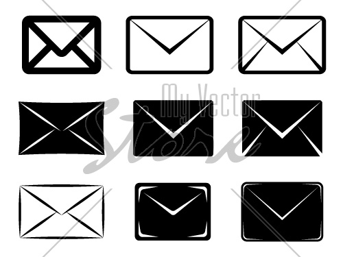 vector email signs