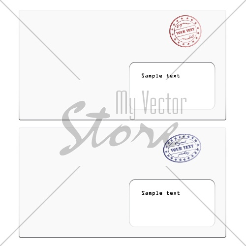 vector envelopes with a stamp