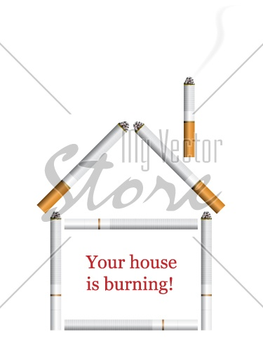 vector house from cigarettes