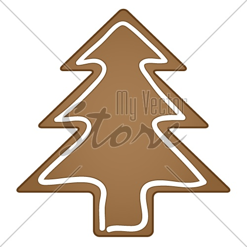 vector gingerbread christmas tree