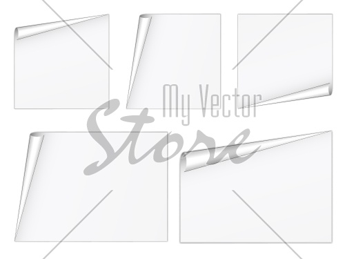 vector blank white sheets