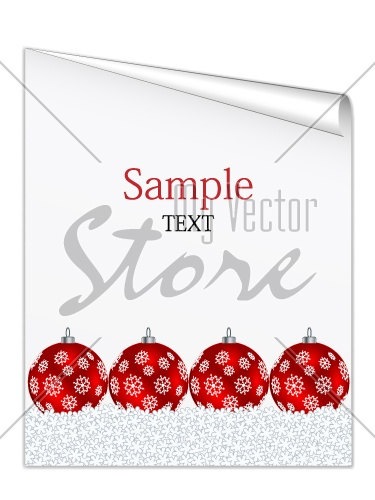 vector christmas sheet