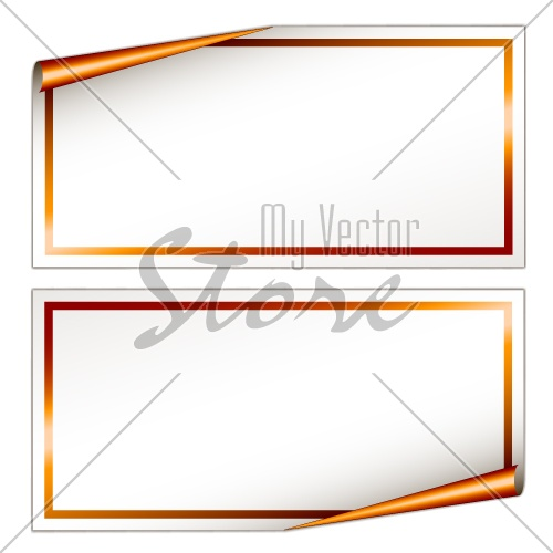 vector blank festive stickers