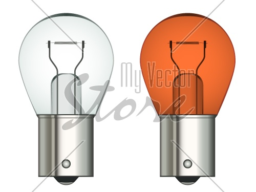 vector bayonet car bulb