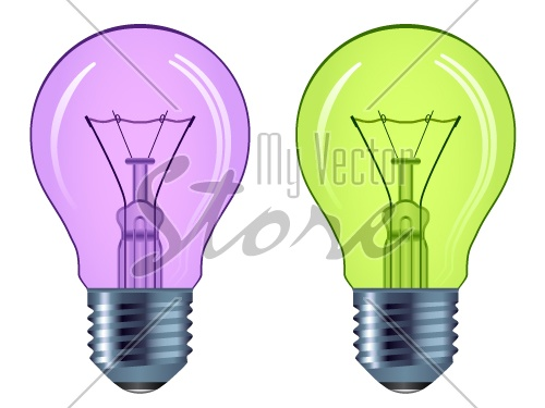 vector bulbs isolated