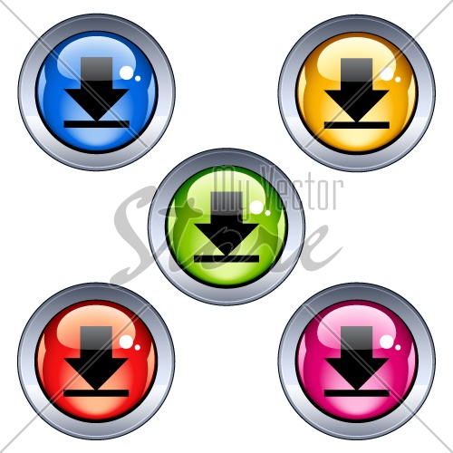 Vector glossy download buttons