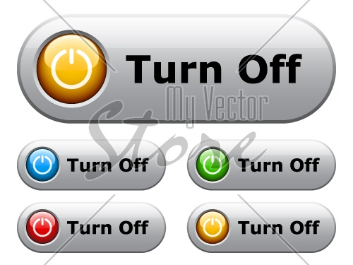 vector white glossy buttons