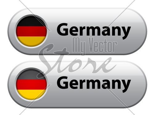 Vector germany flag buttons
