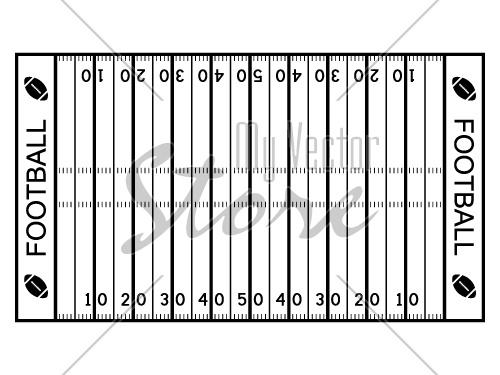 vector american football field - illustration  1712