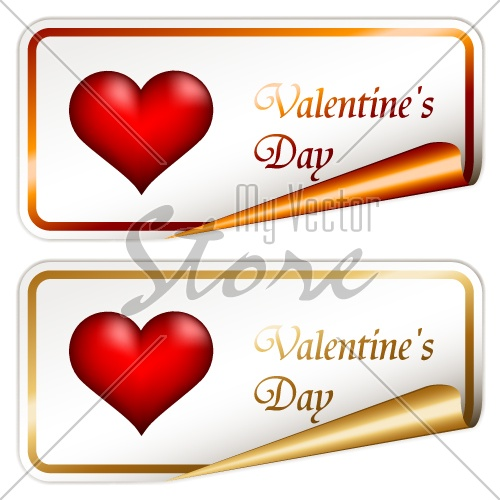 vector valentine stickers