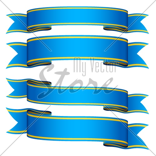 vector blue ribbons