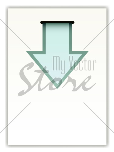 vector paper with arrow
