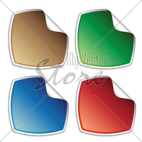 vector blank colored stickers