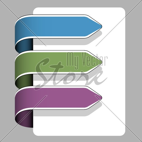 vector arrow ribbon signs
