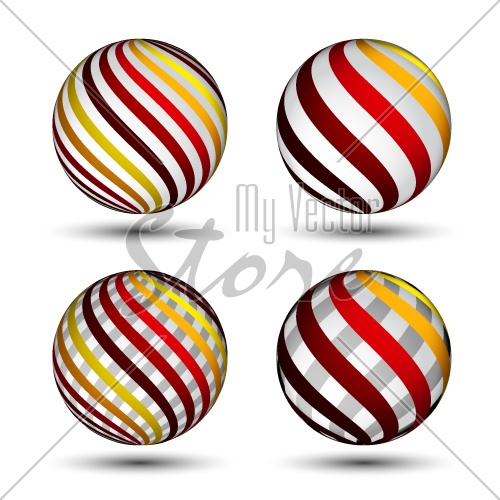 vector abstract globes