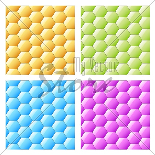 vector shiny seamless hexagons