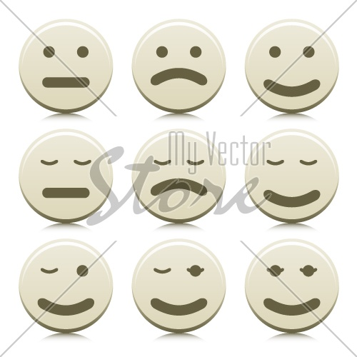 vector faces smilies