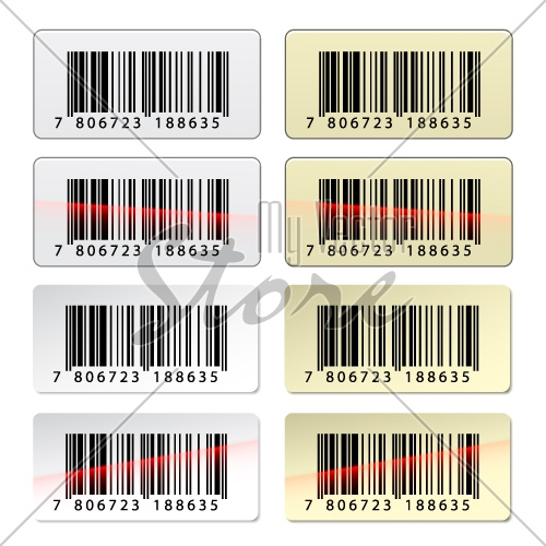 vector EAN barcode stickers
