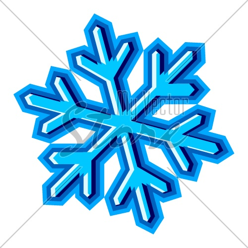 vector snowflake symbol illustration 2421 my vector store
