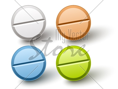vector stylish colored pills
