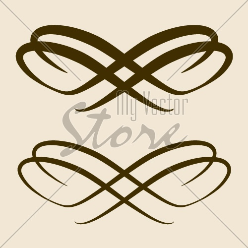 vector calligraphic bow design element