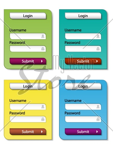 vector web form design templates