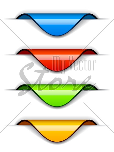 vector blank glossy tag labels