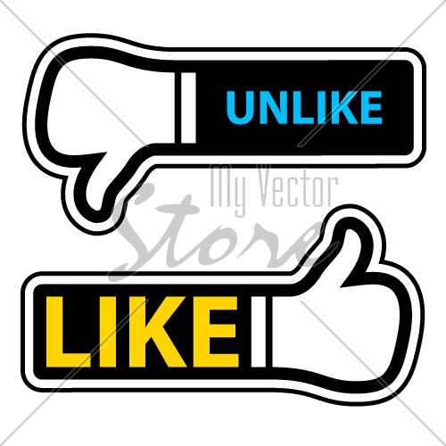 vector thumb up down labels