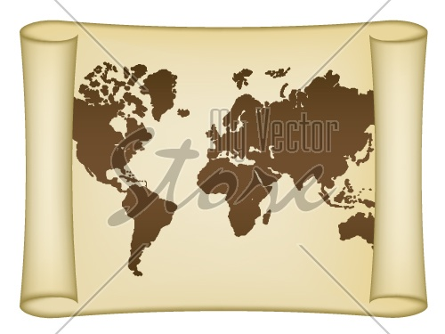 Vector historical world map
