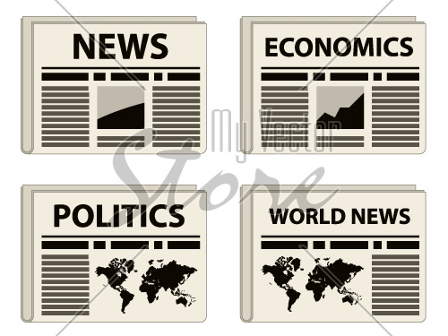 vector newspaper icons