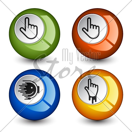vector stylish round glossy buttons