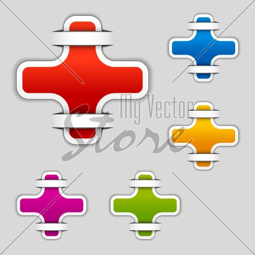 vector blank attached cross labels