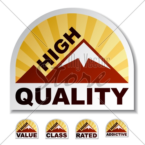 vector high quality value class rated addictive mountain stickers