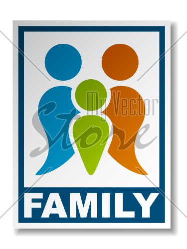 vector family symbol sticker