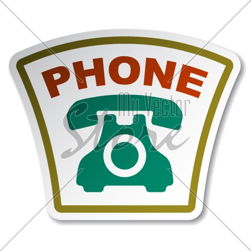 vector old phone sticker