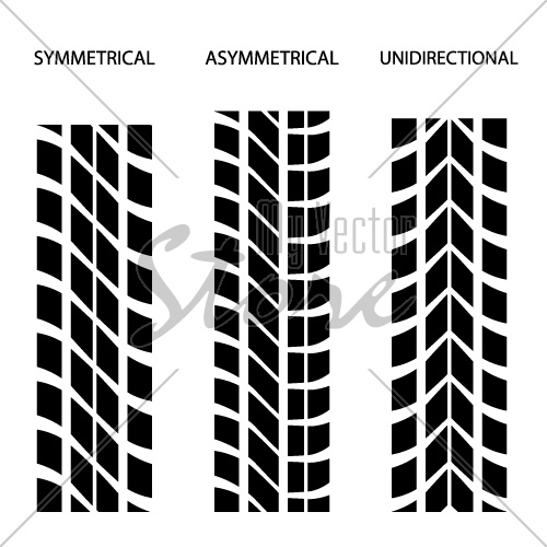 vector tyre symmetrical asymmetrical unidirectional