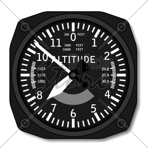 vector aviation airplane altimeter