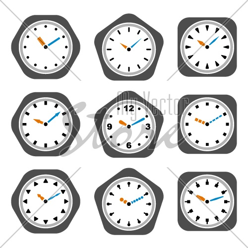vector clock icons