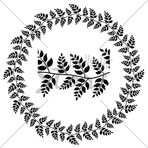 vector seamless ornamental leaf frame